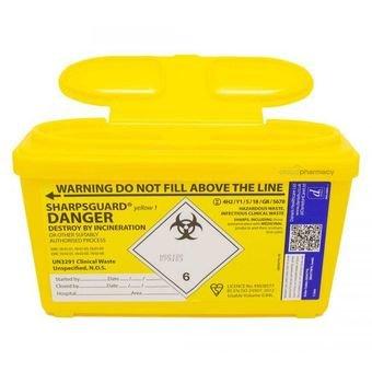 1 litre yellow sharps bin